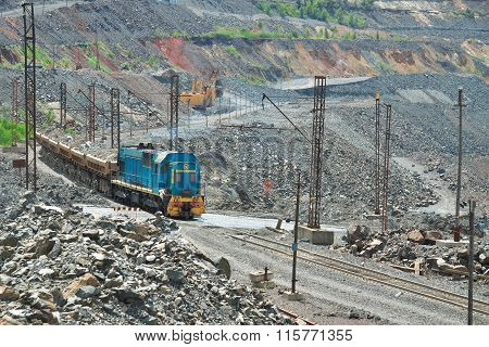 Cargo Train With Iron Ore