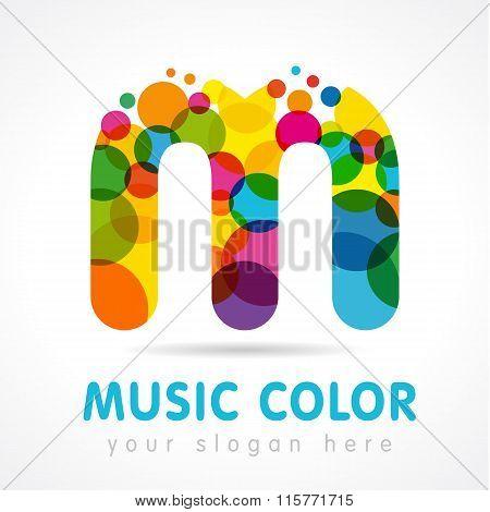 Music color M logo