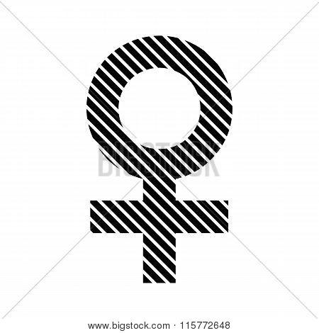 Gender Female Symbol Sign.