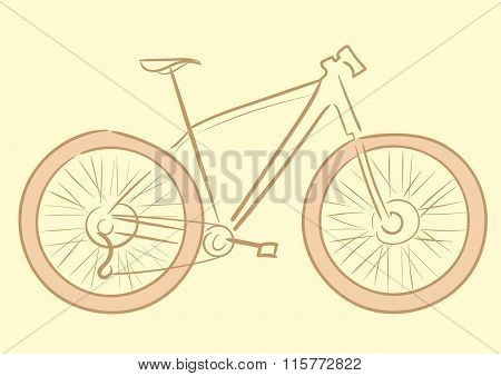 Bicycle brown silhouette