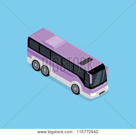 Isometric Bus Icon