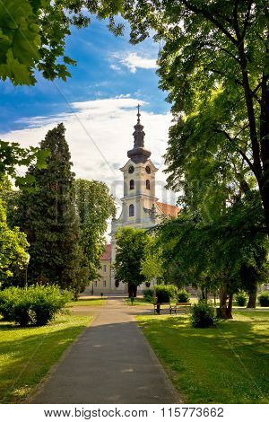 Town Of Bjelovar Park And Church