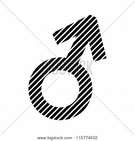 Gender Male Symbol Sign.