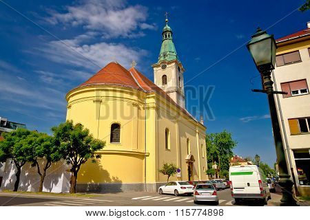 Town Of Bjelovar Square And Church