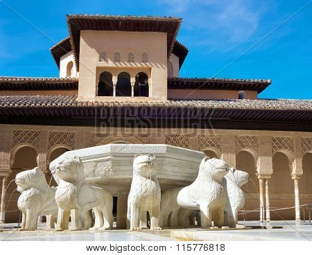 The Court Of The Lions, Alhambra.