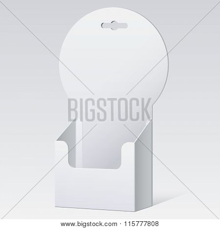 White Cardboard holder for brochures and flyers