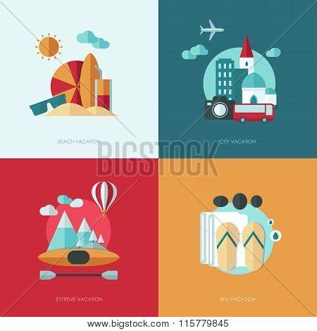 Set of vector flat design concept illustrations