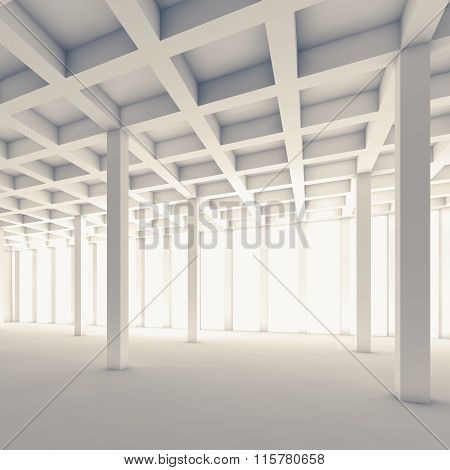 Empty Abstract Room, Square 3D Illustration