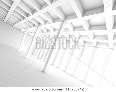 Abstract Architecture Background, White Room 3D