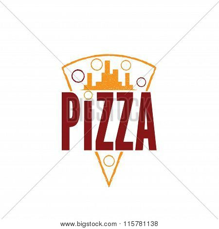 Urban Pizza Slice Vector Design Template