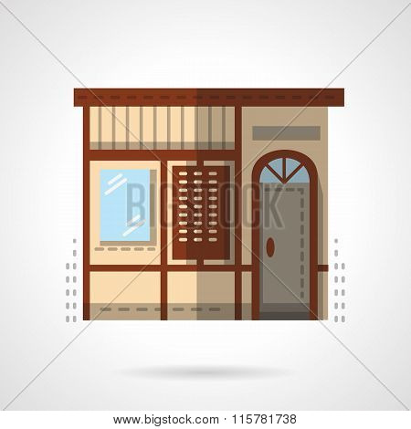Storefronts flat color vector icon. Post office