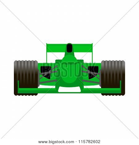 Green Racing Bolide Car