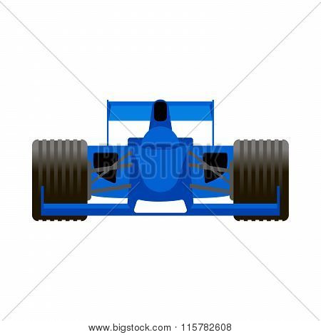 Blue Racing Bolide Car