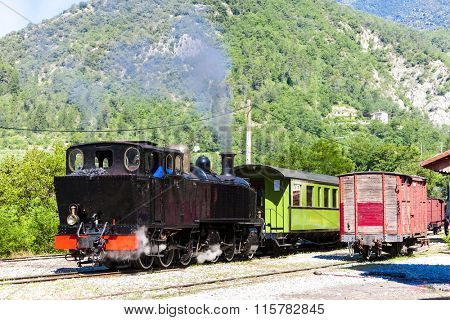 steam train, Villars-sur-Var, Provence, France
