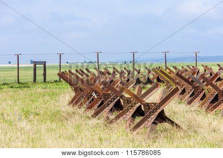 remains of iron curtain, Satov, Czech Republic