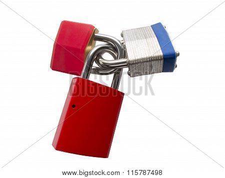 Three Different Padlocks
