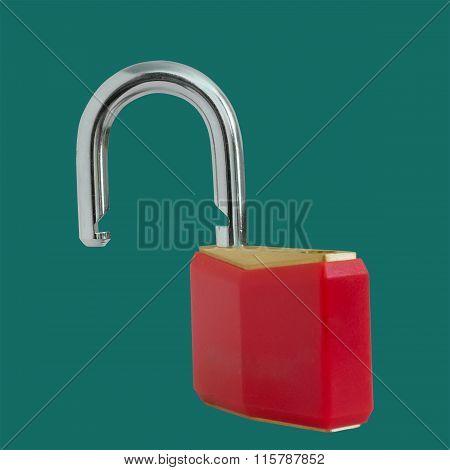 Unlocked Red Padlock
