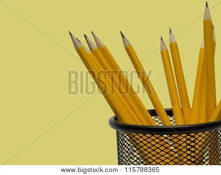 Desk Organizer Filled With Pencils