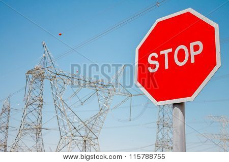 Power station and sign stop