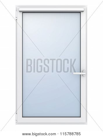 Plastic window on white background. 3D