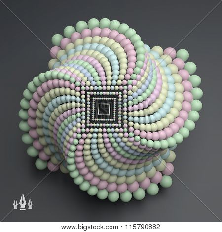 3D abstract spheres composition. Futuristic Technology Style. 3D Vector illustration for Science, Technology, Marketing, Presentation. Connection Structure. Network Design. 3D Vector illustration.