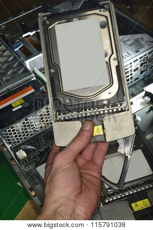 Hand Showing Hard Disk