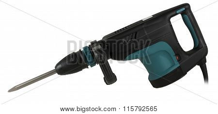 Rotary screwdriver On A White Background