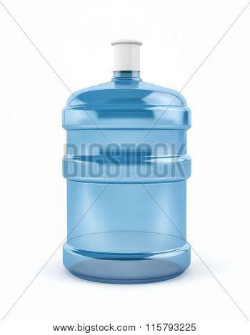 Big bottle of water isolated