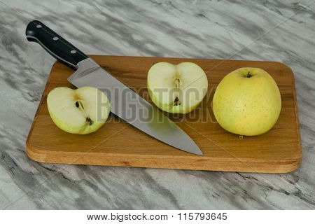 Two Apples And A Knife