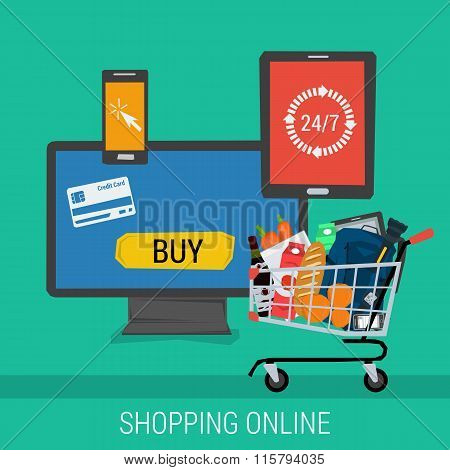 Square banner online shopping and payment
