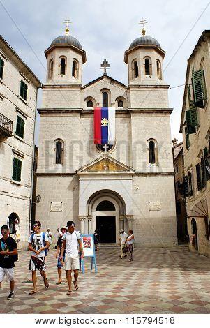 Kotor, Montenegro - July 07, 2014: St. Nikola Church