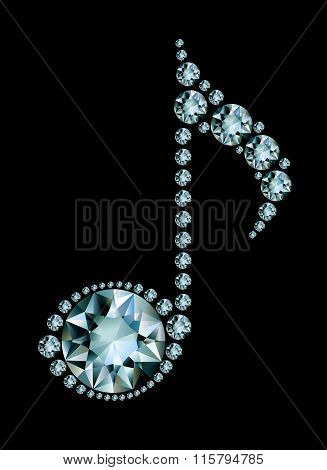 Diamond Music Note