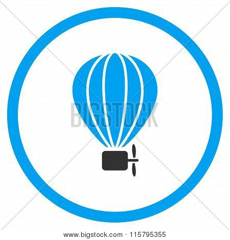 Balloon Airship Flat Icon