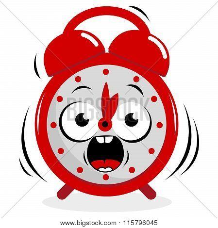 Stressed ringing alarm clock