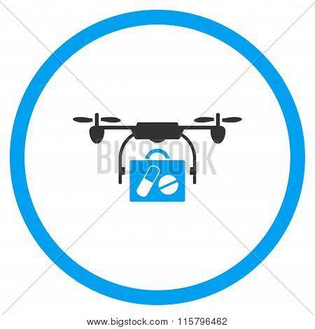 Pharmacy Case Air Drone Shipment Icon