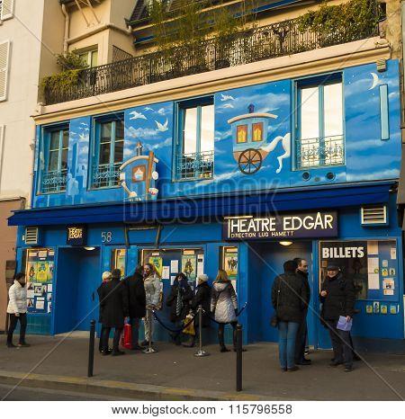 The Edgar Theater In Paris, France.