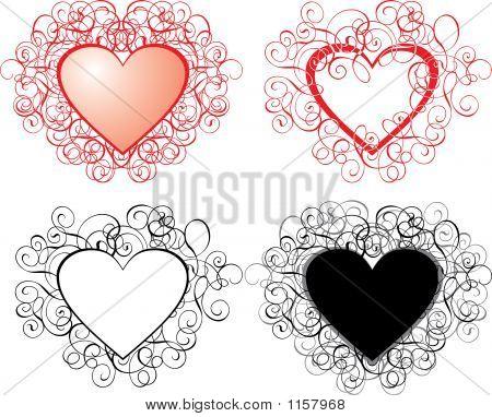 Valentine Background, Hearts