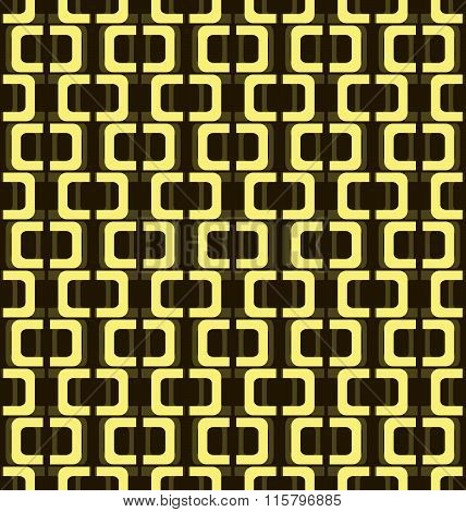 Seamless Pattern Of Open Rectangular Hoops