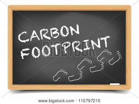 detailed illustration of a blackboard with Carbon Footprint text, eps10 vector, gradient mesh included
