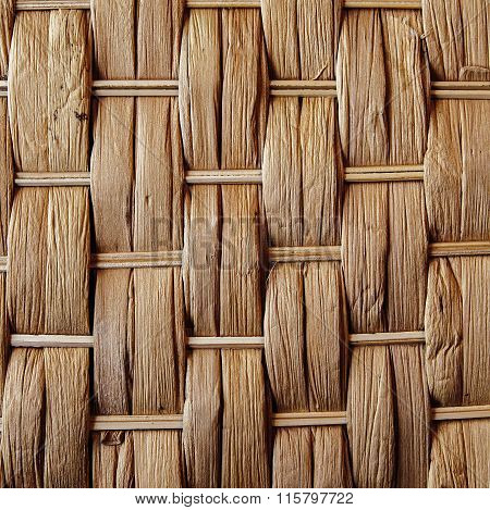 Woven Reed / Wood - Abstract Background Texture.