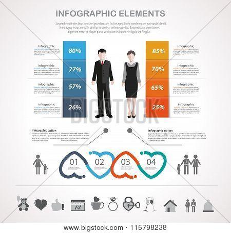 Valentines Day Infographics Design