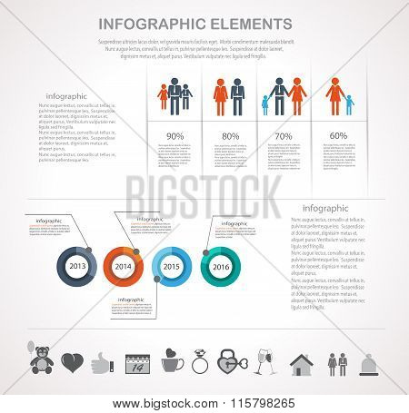 Valentines Day Infographics Elements