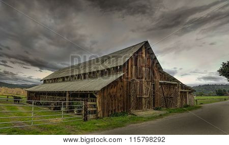 Old Barn, Panoramic Color Image