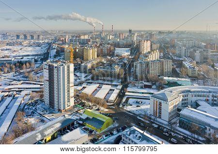Aurora residential district. Tyumen. Russia