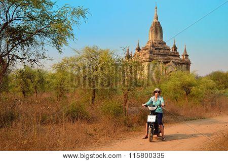 Women In Shwesandaw Pagoda In Burma Myanmar