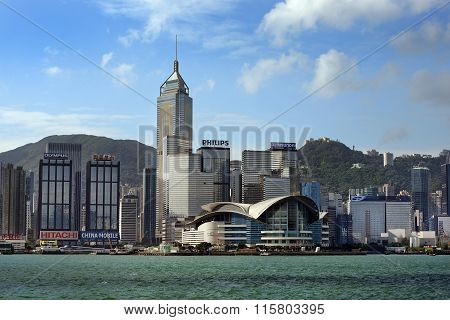 View At Hong Kong From Victoria Harbor