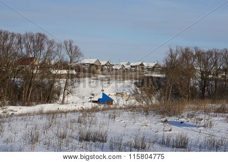 Russian Village Nizhne Ablyazovo