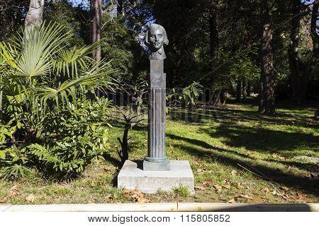 Bust Of Gogol N. In. Sochi, Russia