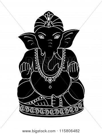 Vector Lord Ganesha.
