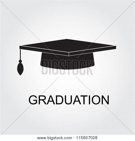 Graduation cap icon. Vector.